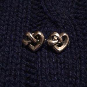 James Avery heart knot earrings